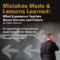 Mistakes Made & Lessons Learned: What Experience Teaches About Success and Failure